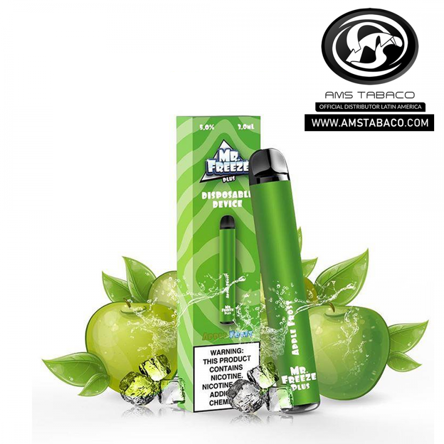 DISPOSABLE DEVICE MR. FREEZE APPLE FROST 800 PUFFS