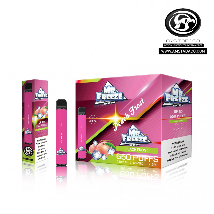Disposable Device Mr. Freeze Peach Frost 650 puffs