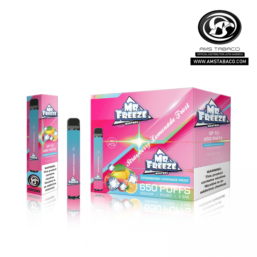 Disposable Device Mr. Freeze Strawberry Lemonade Frost 650 puffs