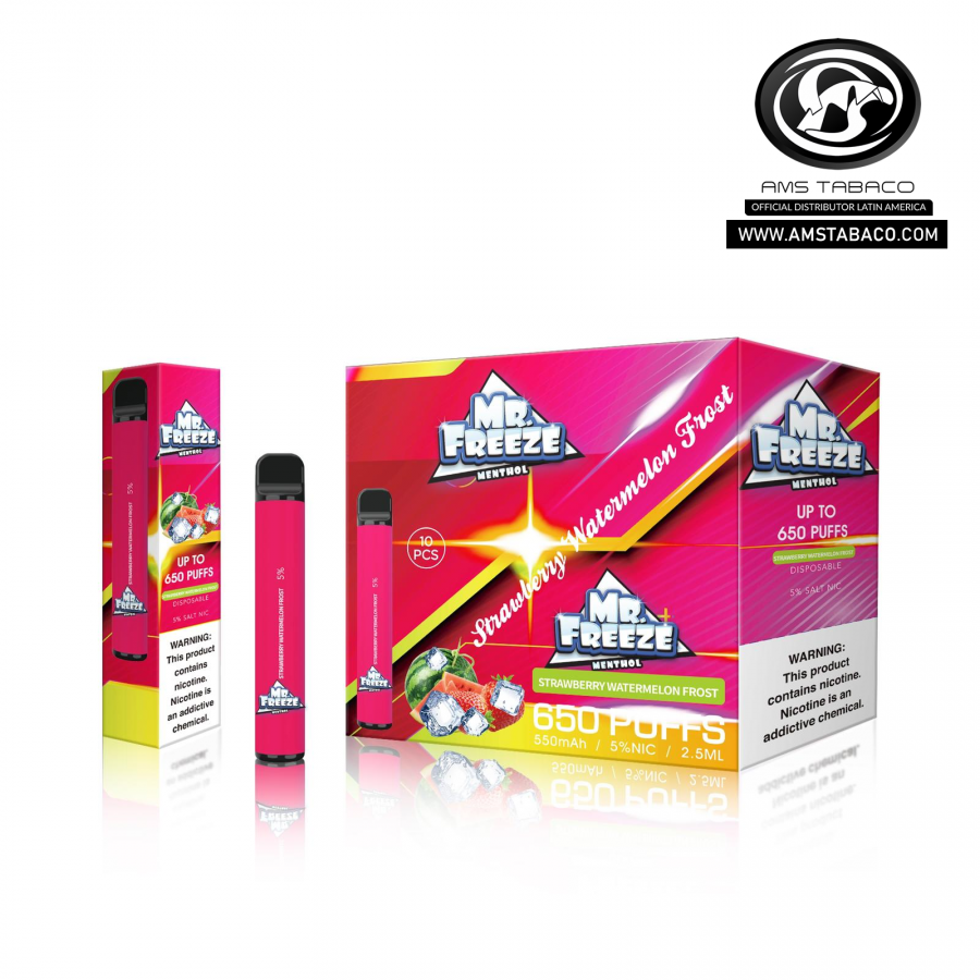 Disposable Device Mr. Freeze Strawberry Watermelon Frost 650 puffs