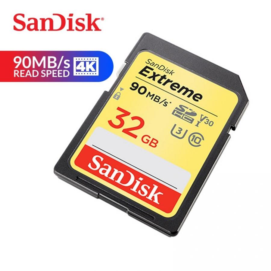MEMORIA SANDISK SD 32GB EXT 90MB/S CLASE 10