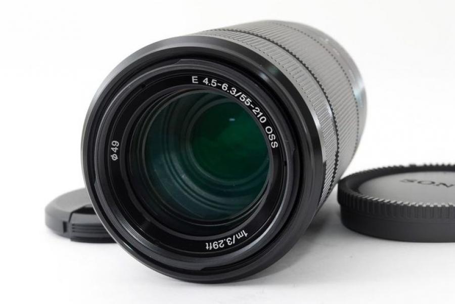 LENTE SONY SEL 55-210MM F/4.5-6.3 OSS CAIXA BRANCA