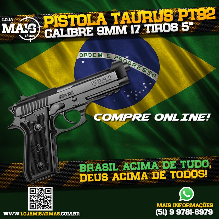 COMPRE EM SÃO PAULO A PISTOLA TAURUS PT 92 TENEFERIZADA!