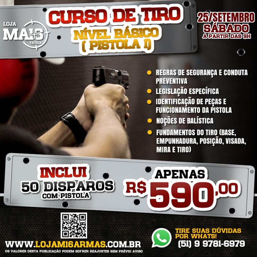 CURSO DE TIRO - NÍVEL BÁSICO (PISTOLA I)