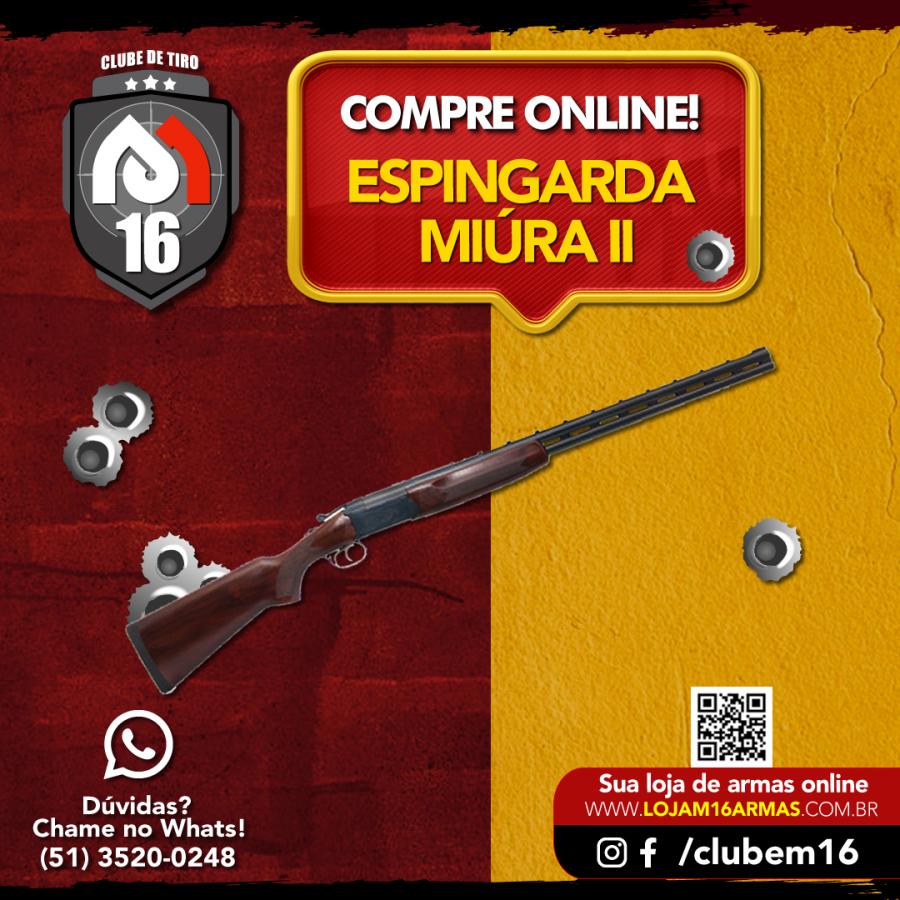 ESPINGARDA MIÚRA II - ACABAMENTO STANDARD – OXIDADO