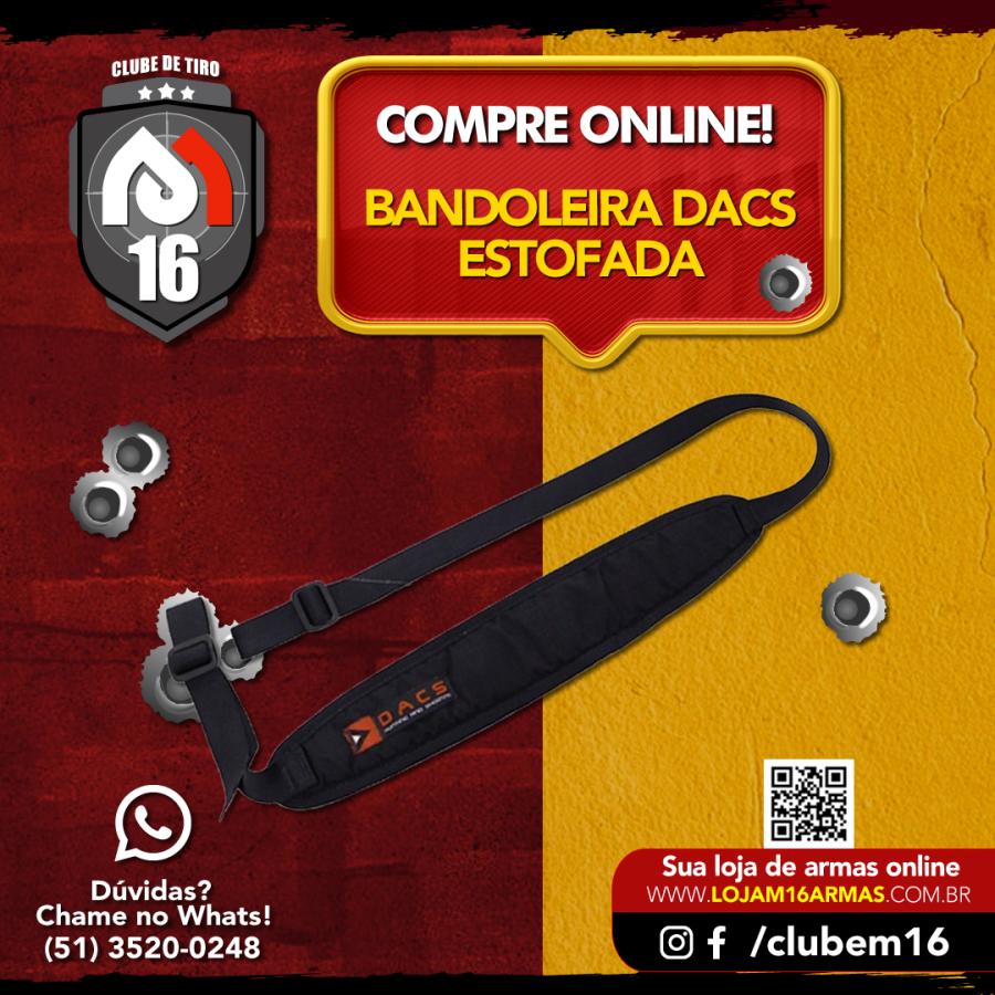 Bandoleira Tática Estofada 2 pontas - Tactical Dacs
