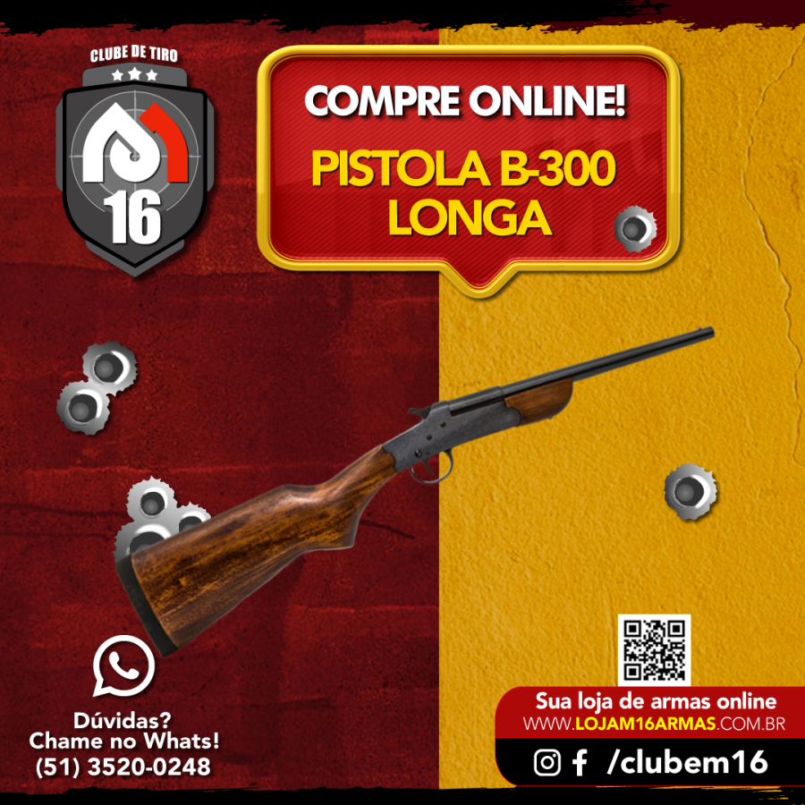 Já conhece a Pistola B-300 com coronha longa?