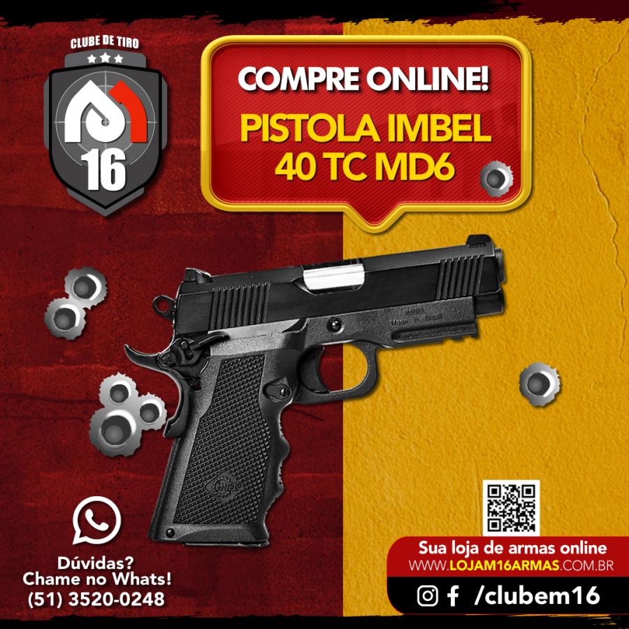 Pistola Imbel 40 TC MD6 com ADC