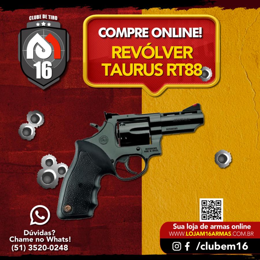 Revólver Taurus RT88 Oxidado