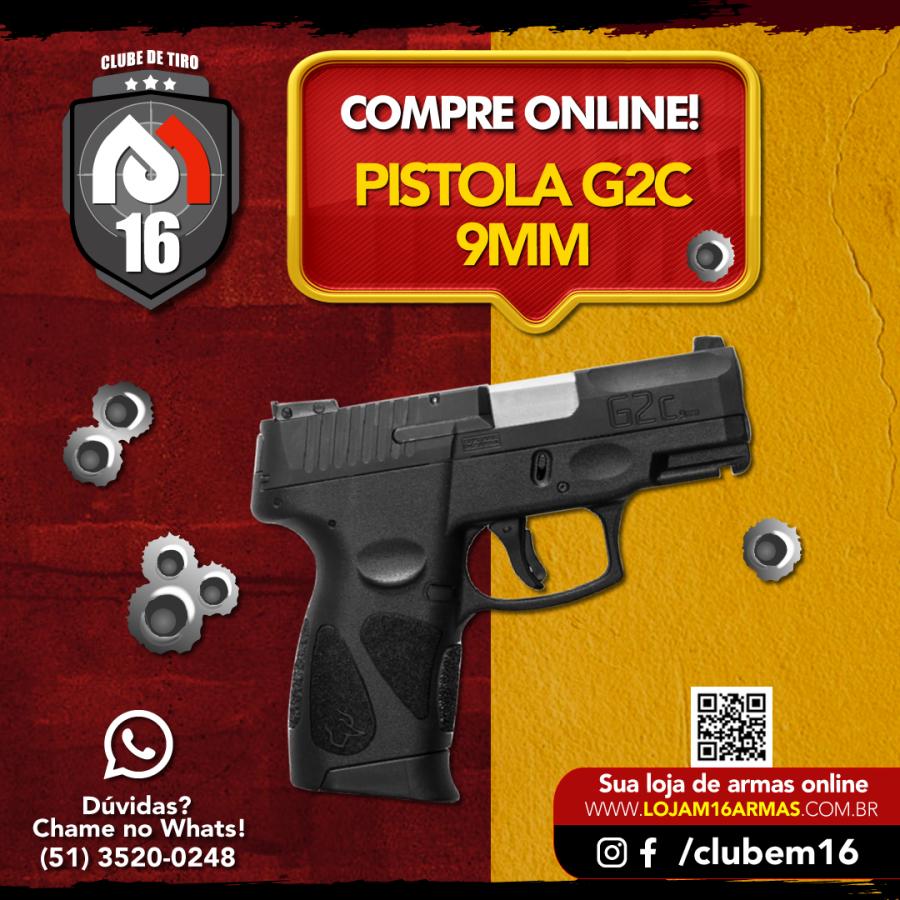 Pistola Taurus 9mm G2C