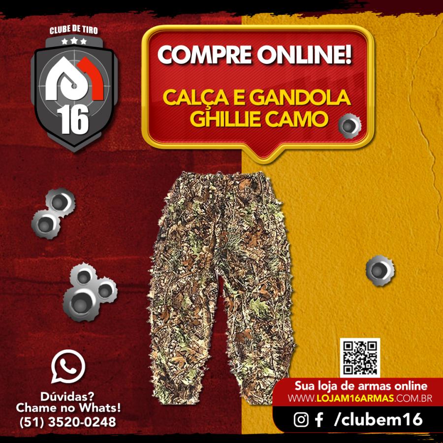 Conheça a Calça e Gandola - Ghillie Camo