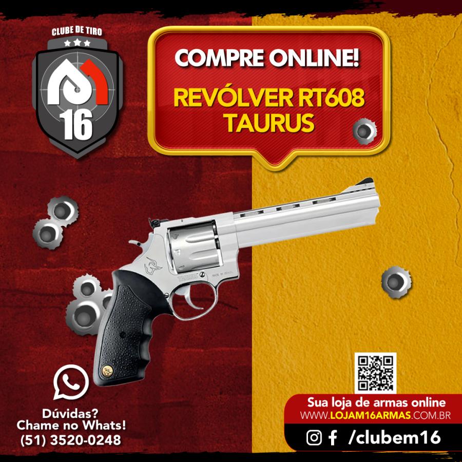 Conheça um pouco mais sobre o Revólver Taurus RT608