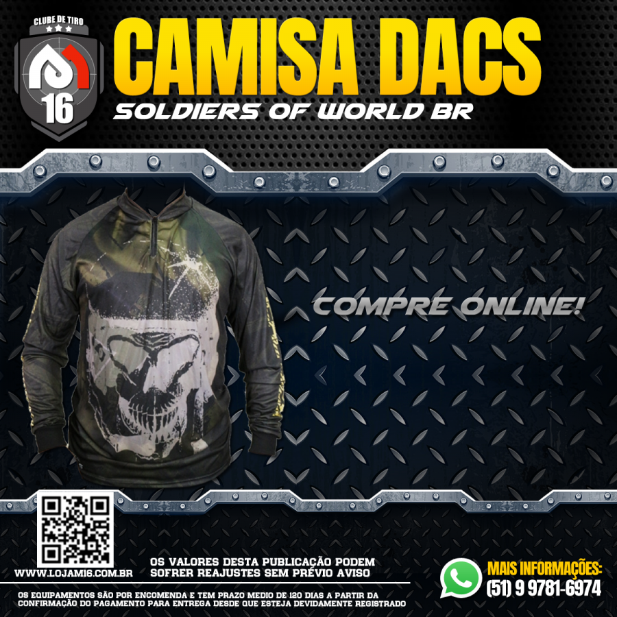 Camisa Sublimada - Soldiers Of World Br