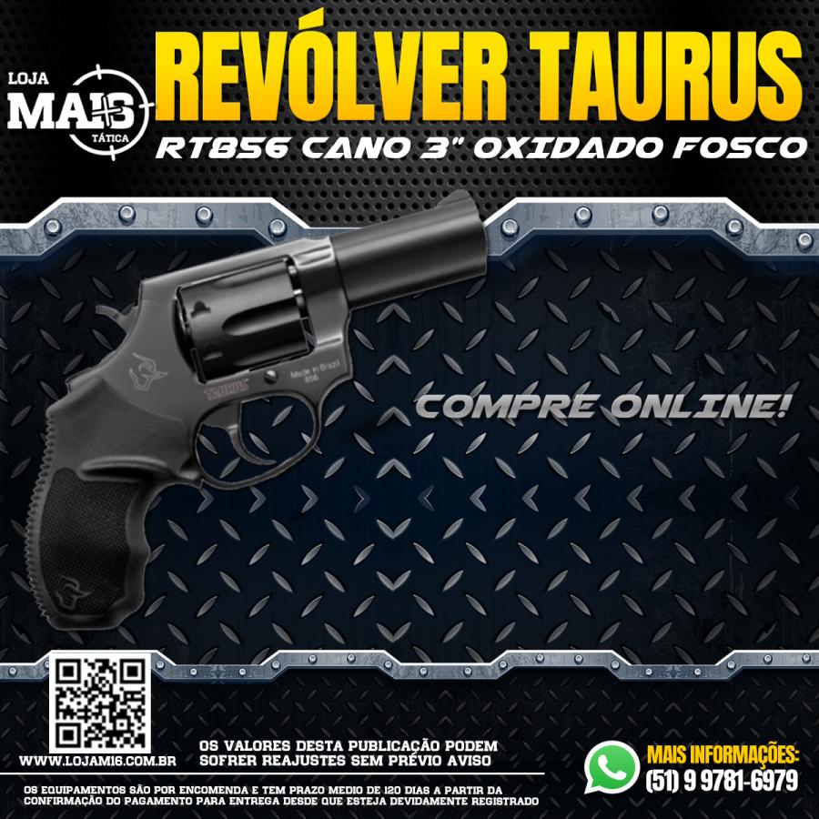 """Revólver Taurus RT856/6 TIROS CALIBRE .38SPL CANO 3"""" OXIDADO FOSCO"""
