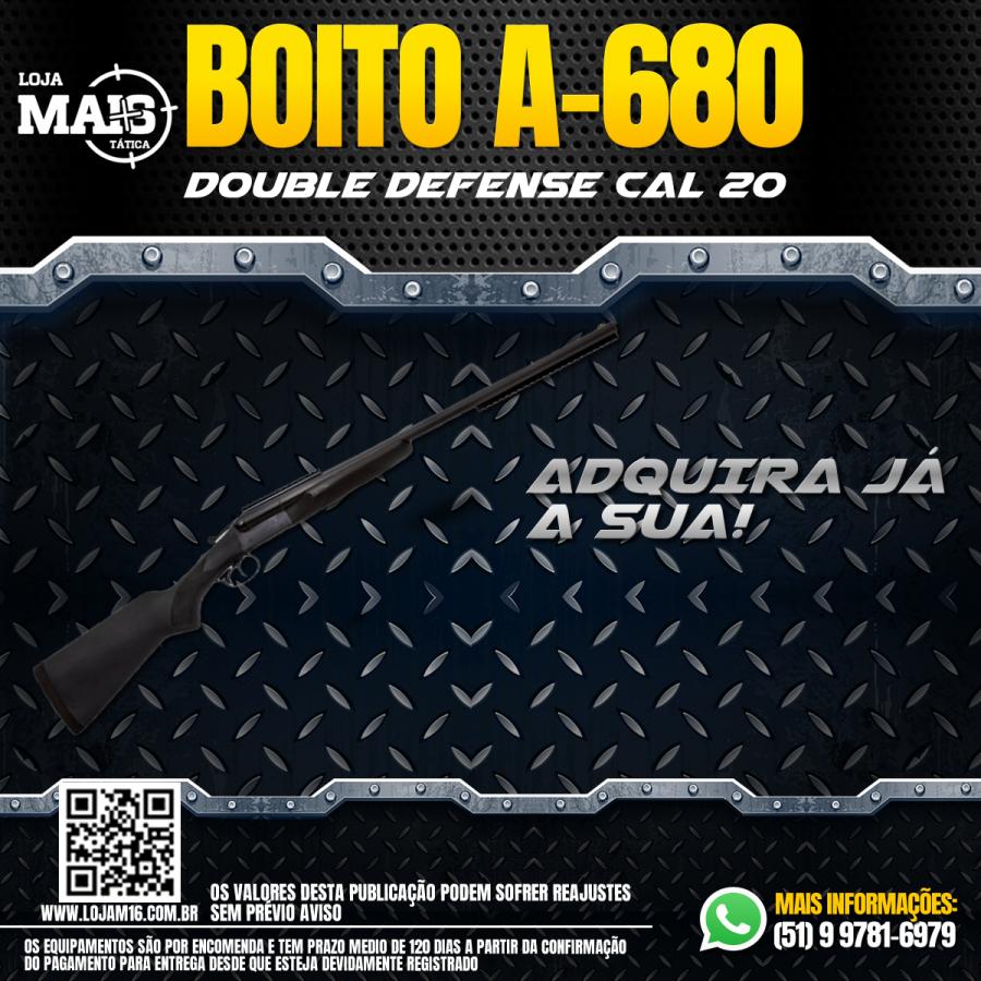 JÁ CONHECE A ESPINGARDA DOUBLE DEFENSE - CANOS PARALELOS - CAL.20 - COM CORONHA E TELHA DE MADEIRA - BIGATILHO A-680 - SOMENTE CAL.20?