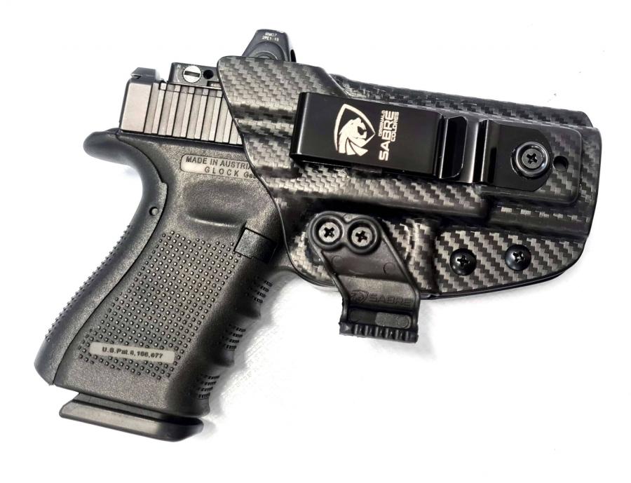 Coldre Slim Em Kydex Velado Original Sabre Coldres: Glock Gen 5 – G17 MOS
