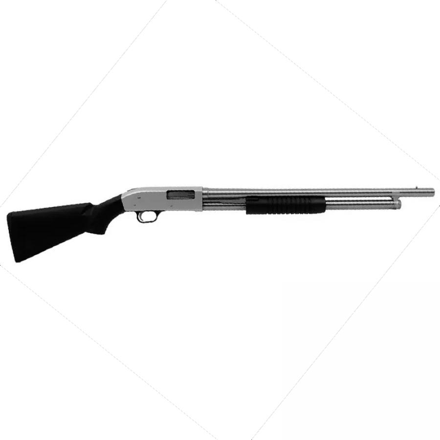 Espingarda BSA 5T 84 PUMP cal 12 - Pump com Coronha PP ou Pistol Grip – Toda Niquelada - Pump Lavrada