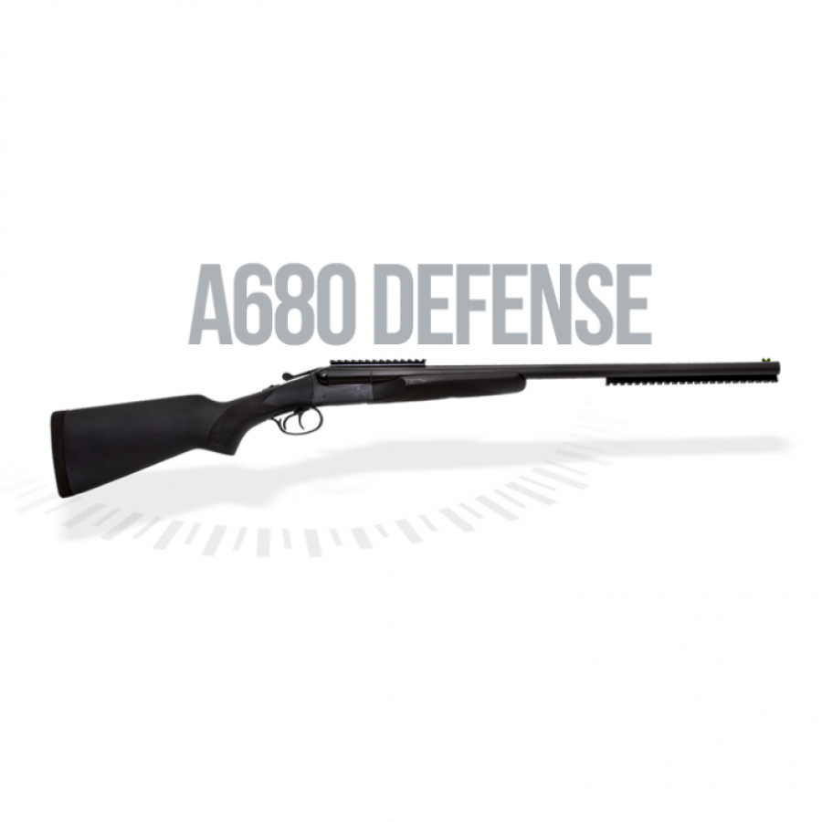 Espingarda Double Defense - Canos Paralelos - Cal.12 - Cal.20 - Com Coronha e Telha de Polímero – Bigatilho – A-680