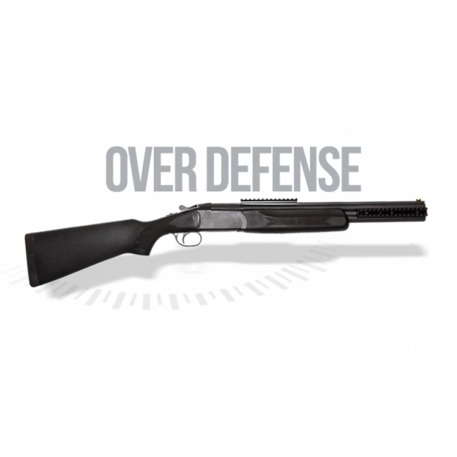 Espingarda Over Defense - Canos Sobrepostos - Monogatilho - Cal 12 – Com Coronha e Telha Sintética – Acabamento Standard – Oxidado - Somente cal 12