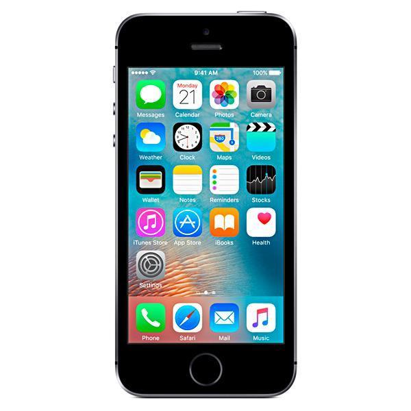 "Apple iPhone SE A1723 32GB Tela Retina de 4.0"" 12MP/1.2MP iOS - Cinza Espacial"
