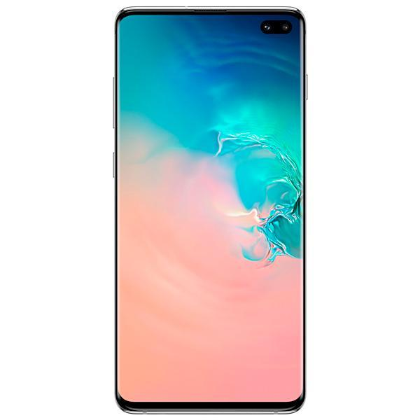 "Smartphone Samsung Galaxy S10+ SM-G975F/DS 128GB 6.4"" 12/12/16MP/10MP/8MP OS 9.0 - Branco"