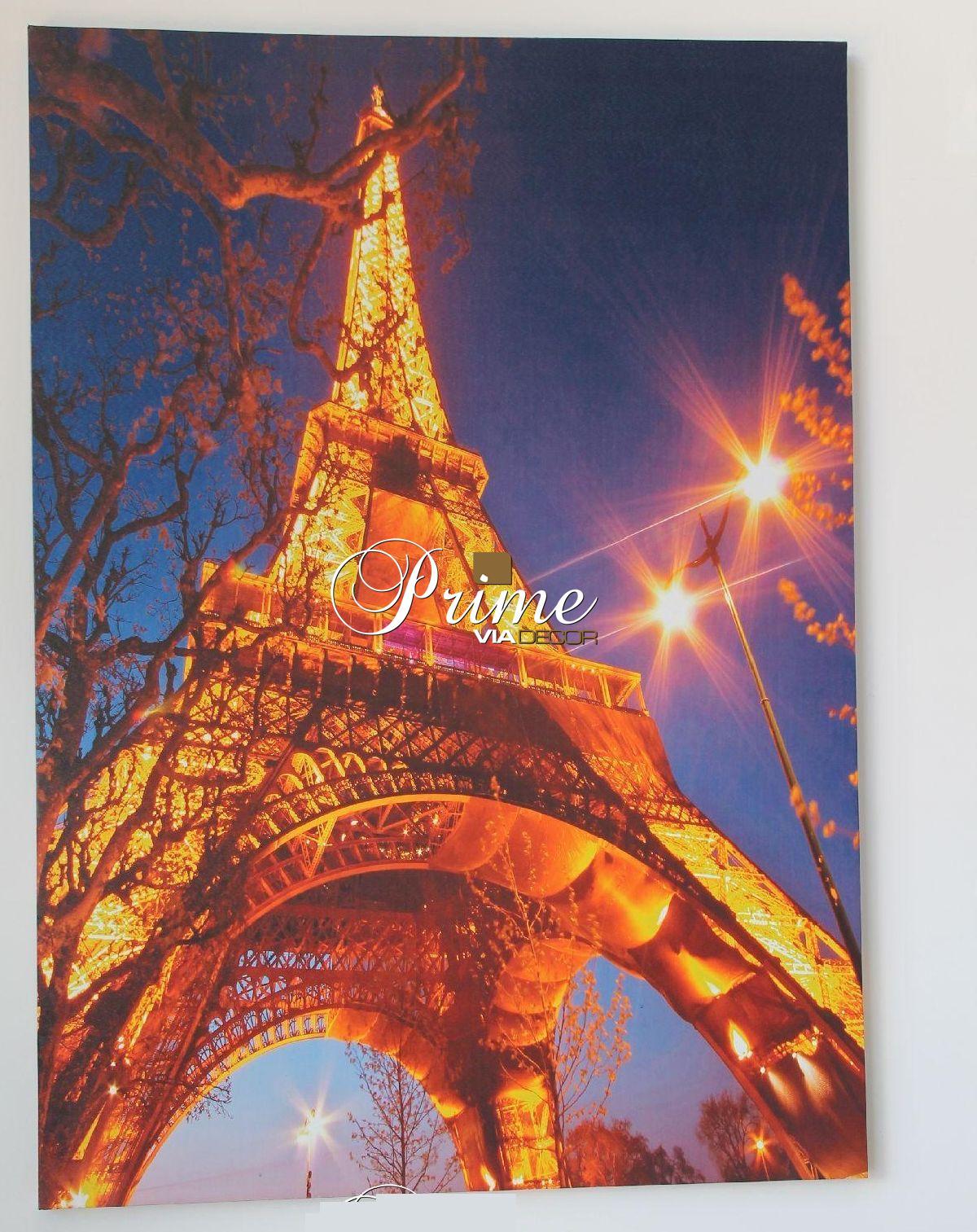 Quadro Tela Eiffel Tower LED