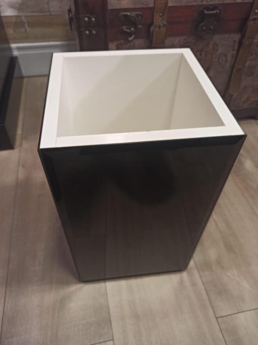 Lixeira vidro preto