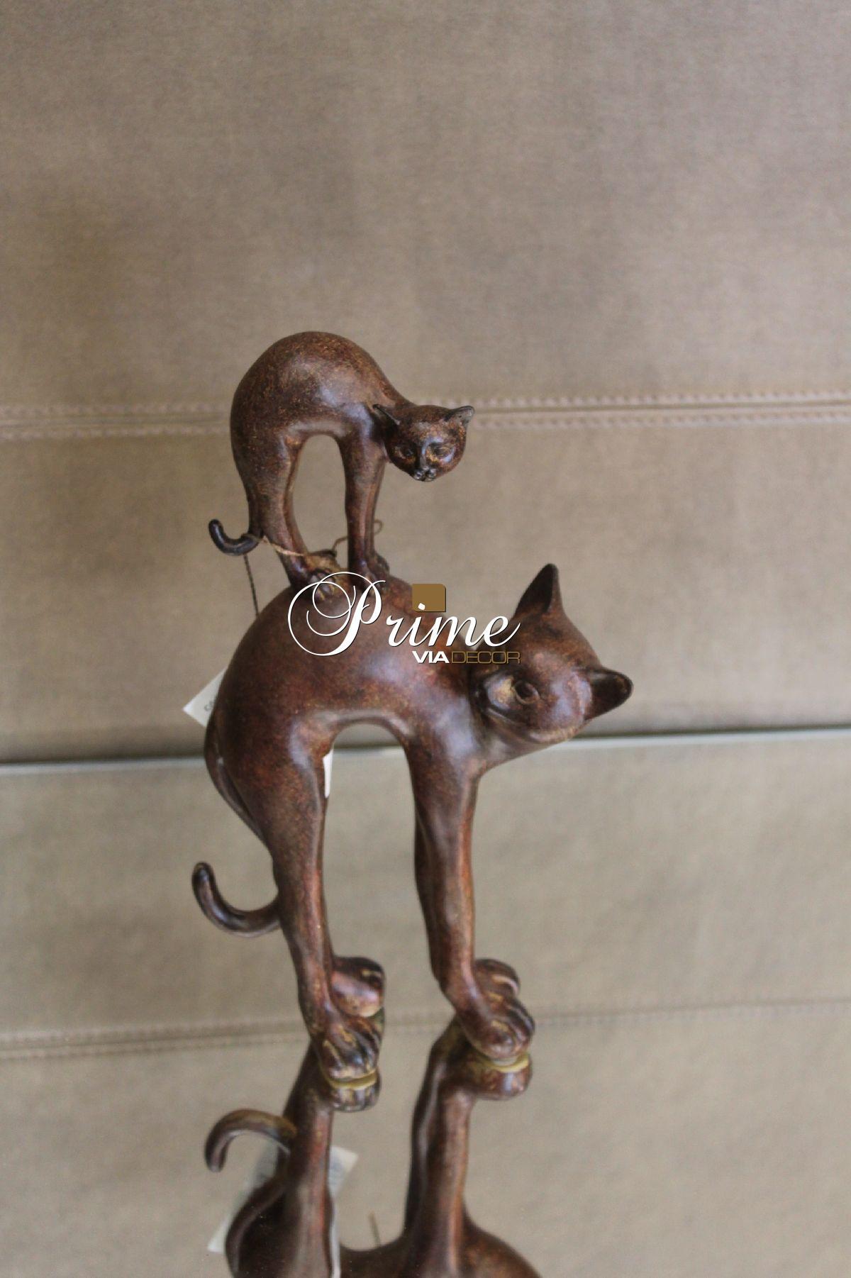 Escultura gato c/ filho