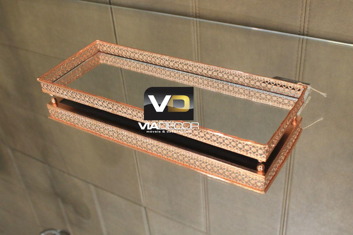 Bandeja Espelhada e Metal Cobre - KV0135
