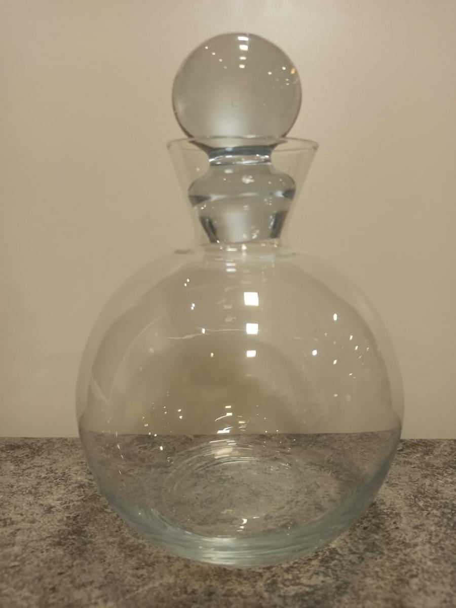 Garrafa licor transparente