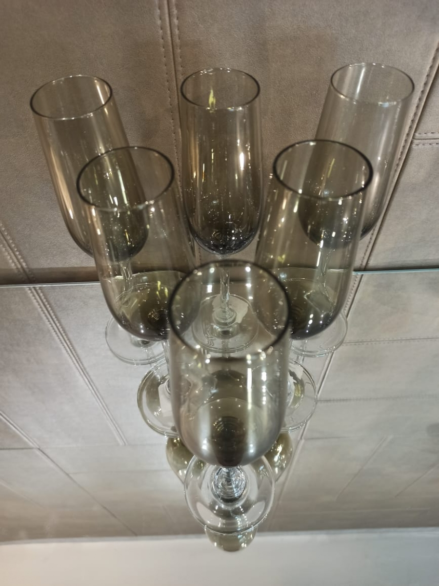 Taça de Champagne Fumê 240ml 6 ud